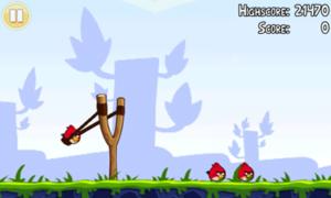 Image du jeu Angry Birds développé par Rovio Entertainment avec Starling