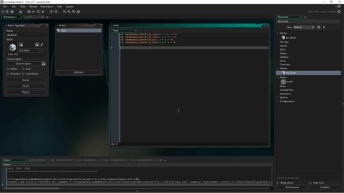 Image du logiciel GameMaker.