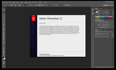 Image du logiciel Adobe Photoshop.