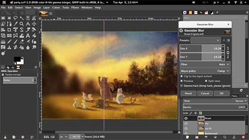 Image du logiciel GIMP.