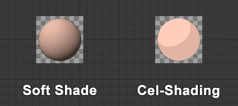 soft shade vs cel shading