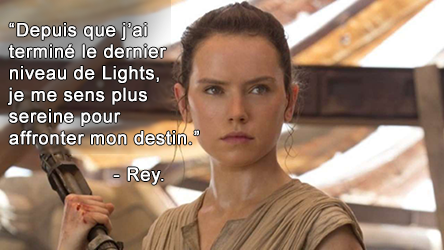 """Daisy Ridley jouant Rey dans """"Le réveil de la force""""."""