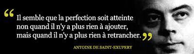 Citation d'Antoine de Saint-Exupéry.