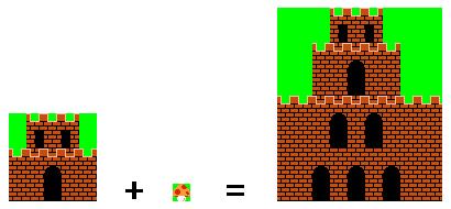 Image Super Mario Bros Chateau.